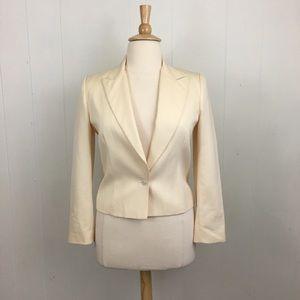 Vintage Christian Dior Pinstripe Wool Blend Blazer
